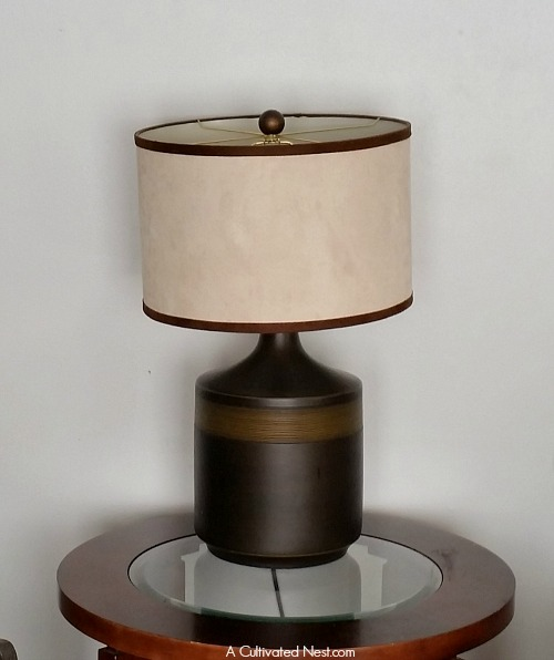 Easy DIY way to revive an old lamp shade