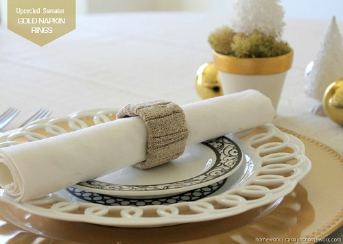 Repurposed Sweater Napkin Rings