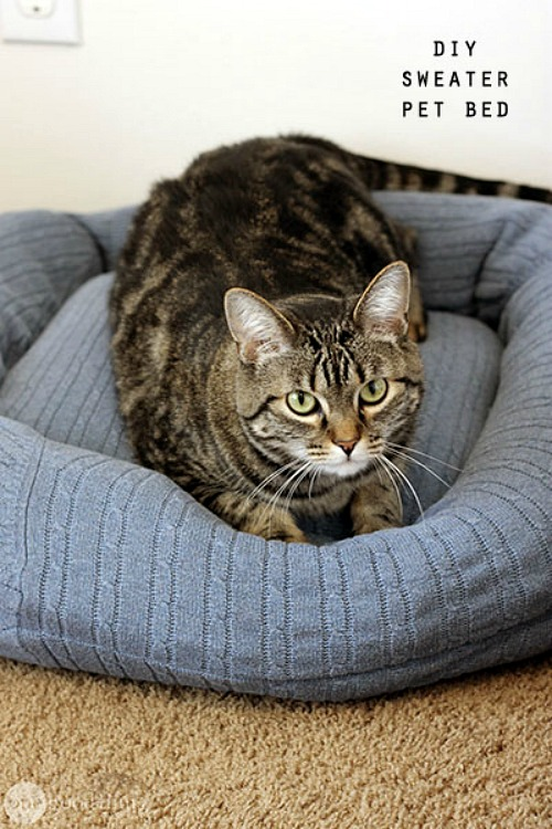 Recycled Sweater Pet Bed