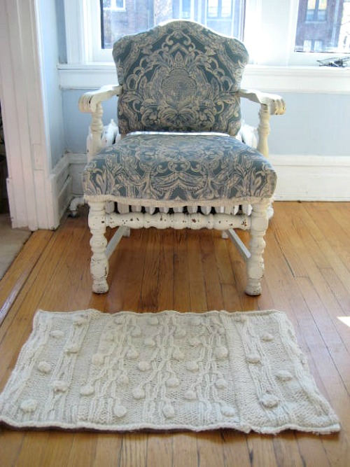 Upcycled Sweater Rug