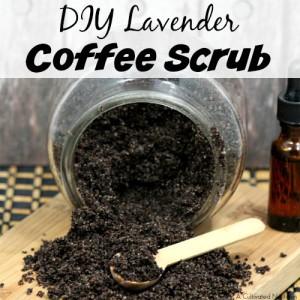 DIY Lavender Coffee Scrub