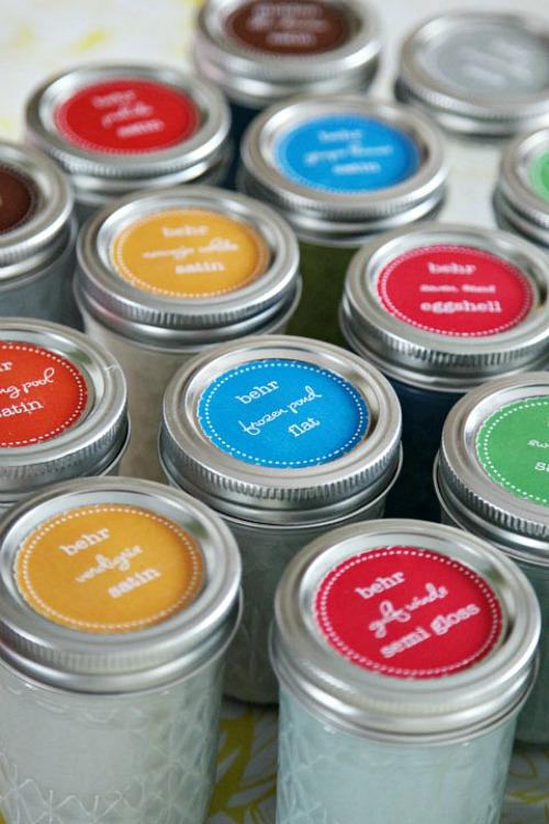 Mason Jar Paint Organizer