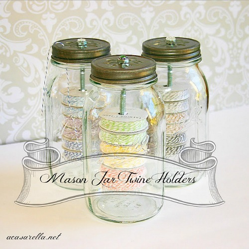15 Clever Mason Jar Organization Ideas - Mason jars make great organization tools! If you need to organize your home, check out these 15 clever Mason jar organization ideas! | #ACultivatedNest