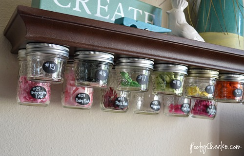 Mason Jar Undershelf Storage