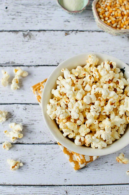 Sweet and Spicy Wasabi Popcorn