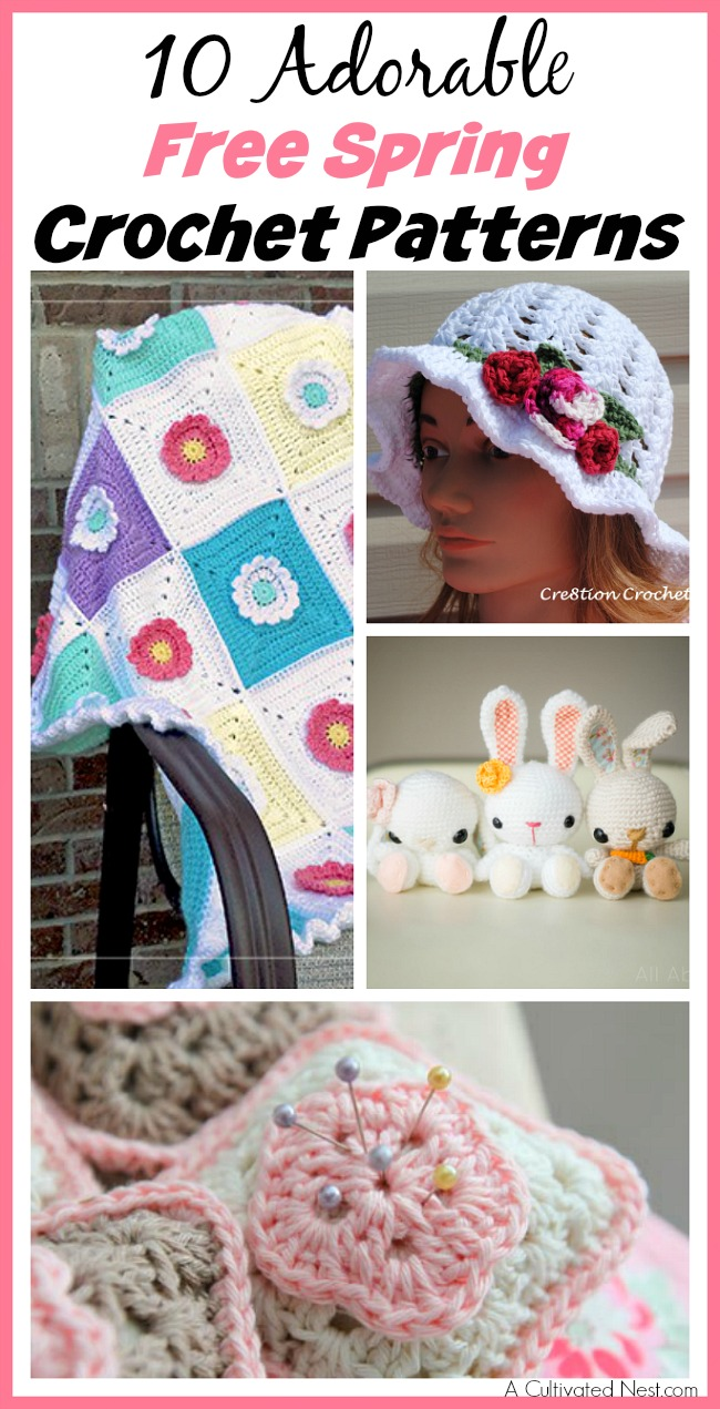 If you know how to crochet, you can make so many cute things! Try out your crochet skills on one of these 10 adorable free spring crochet patterns!
