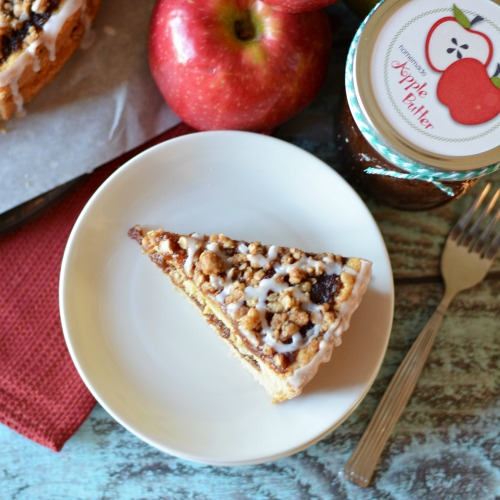 Apple butter coffee cake