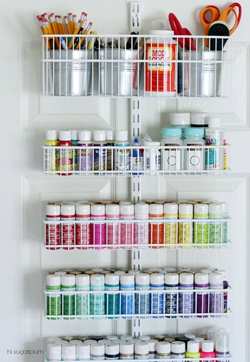 Craft Room Door Organizer
