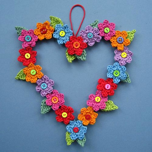 Hanging Flower Heart