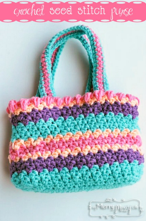Free Crochet Purse Patterns For Kids : 10 Adorable Free Spring Crochet Patterns - A Cultivated Nest