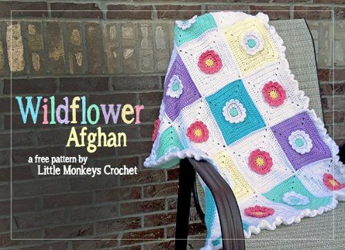Crocheted Wildflower Afghan