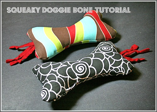 Homemade Squeaky Dog Bone Toy