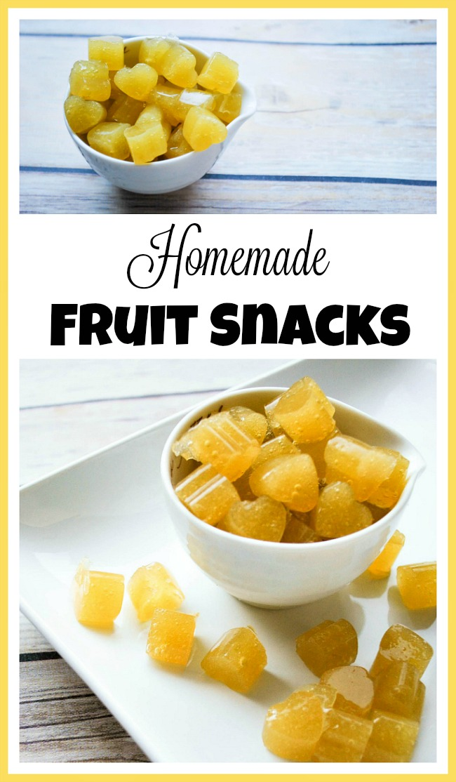 Homemade Fruit Snacks- If your kids love fruit snacks, but you'd rather they didn't eat dyes and artificial flavors, then you need to make your own tasty homemade fruit snacks! | recipe, candy, dessert, treat, homemade snack recipe, healthy eating, make your own fruit snacks