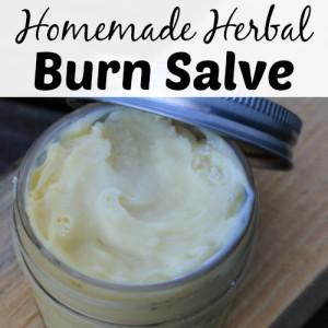 Homemade Herbal Burn Salve