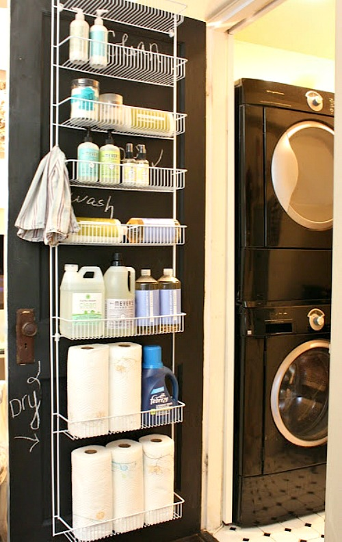 Laundry Room Inner Door Organizer