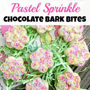 Pastel Sprinkle Chocolate Bark Bites