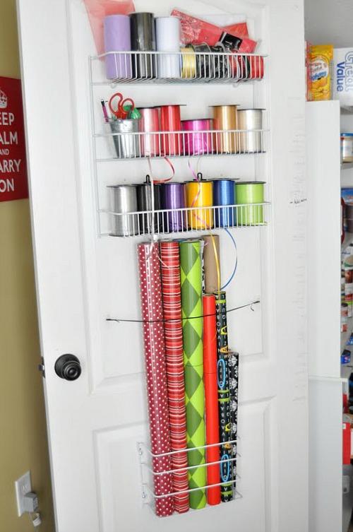 Inner Door Gift Wrap Organizer