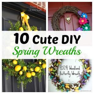 10 Cute DIY Spring Wreaths