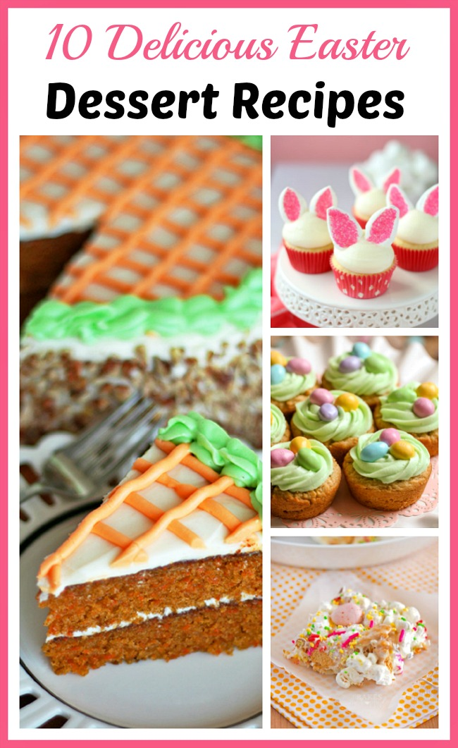 There are so many fun Easter treats you can make! If you're hosting an Easter celebration, you have to make one of these delicious Easter dessert recipes!