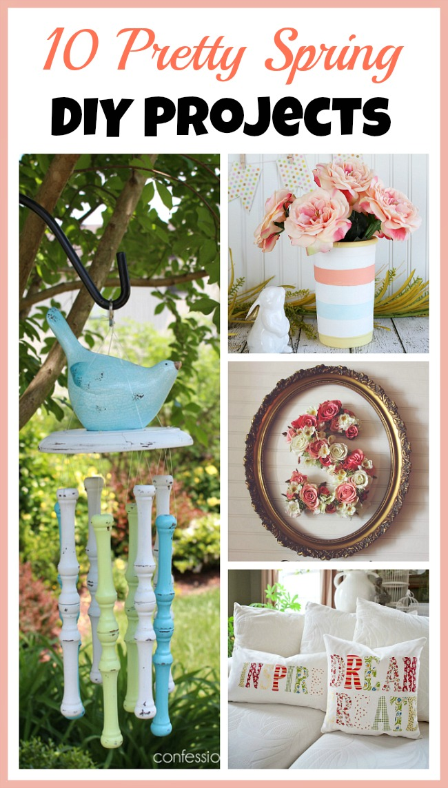 If you're tired of your old spring decor, you can easily make new decorations for very little cost! Check out these pretty spring DIY projects for ideas!