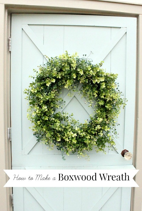 Artificial Boxwood Wreath