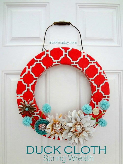 Cloth Spring Wreath