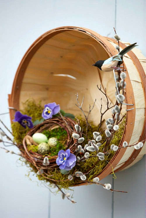 Spring Basket Wreath
