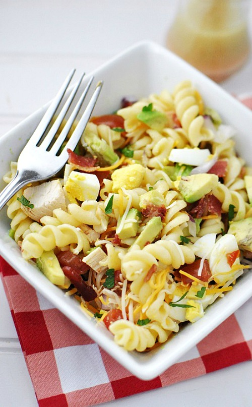 Cobb and Rotini Pasta Salad