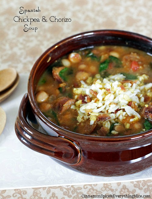 Spanish Chickpea and Chorizo Soup