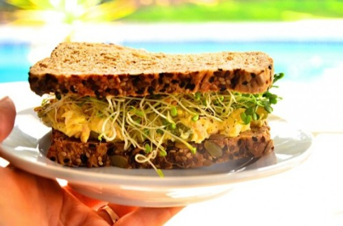 Tuna Egg Salad Sandwich