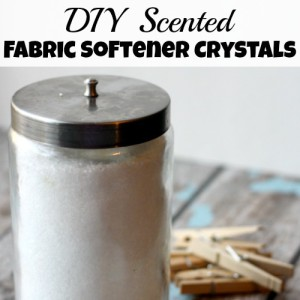 DIY Scented Fabric Softener Crystals