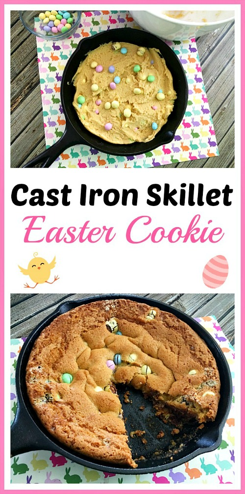 Cast Iron Skillet Easter Cookie