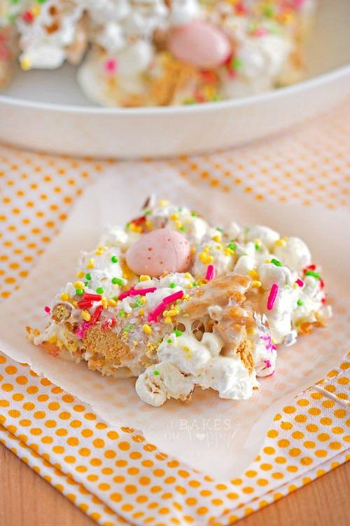 Easter Popcorn Bars
