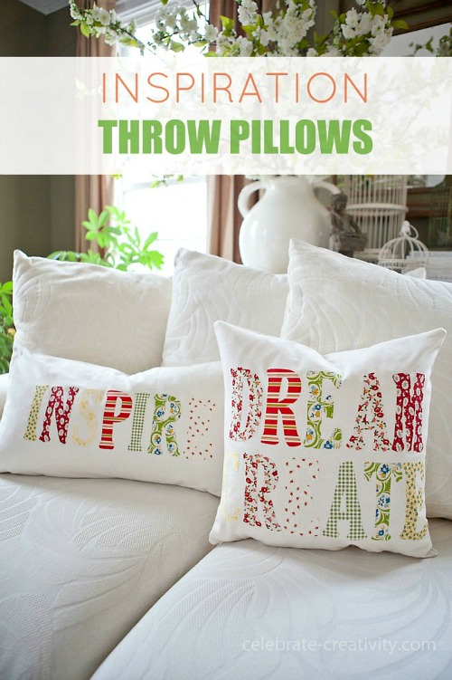 DIY Inspiration Throw Pillows