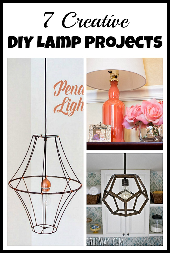 Making your own lamp is easy, inexpensive, and a great way to get a lamp that matches your decor! Take a look at these 7 DIY lamp projects for inspiration!