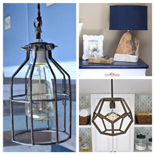 12 Creative DIY Lamp Projects- Making your own lamp is easy, inexpensive, and a great way to update your décor! Take a look at these 12 DIY lamp projects for inspiration! | #diy #diyProject #diyLamp #diyDecor #ACultivatedNest