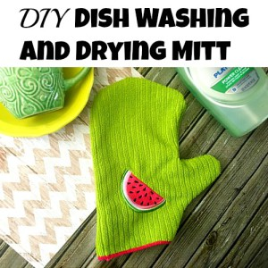 DIY Dish Washing and Drying Mitt