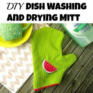 DIY Dish Washing and Drying Mitt