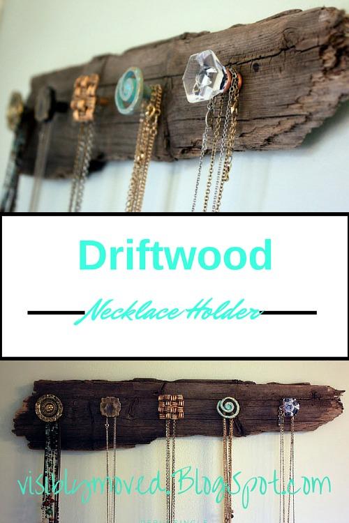 DIY Jewelry Organizer Ideas- DIY Driftwood Jewelry Organizer