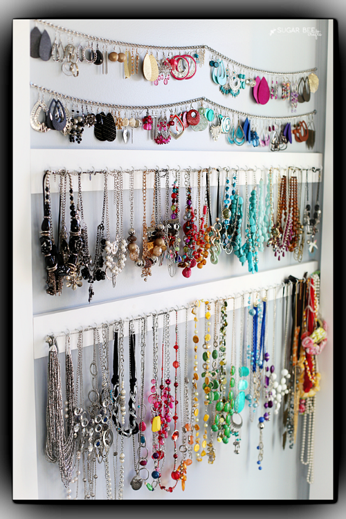 DIY Jewelry Organizer Ideas- Simple DIY Jewelry Organizer