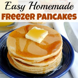 Easy Homemade Freezer Pancakes