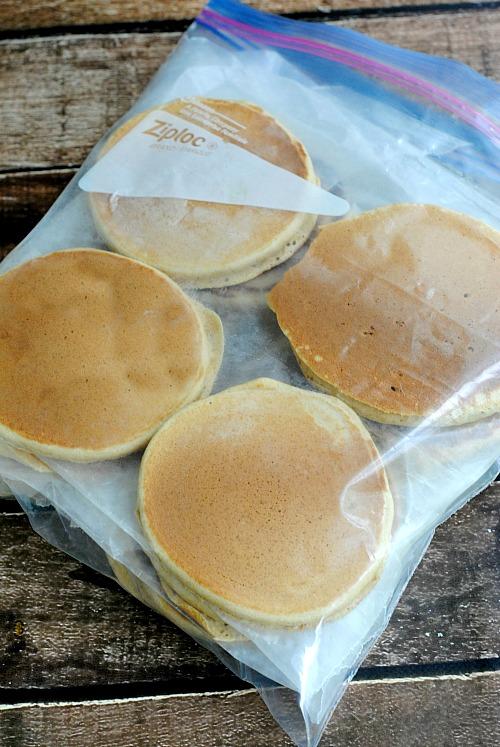 Easy homemade freezer pancakes