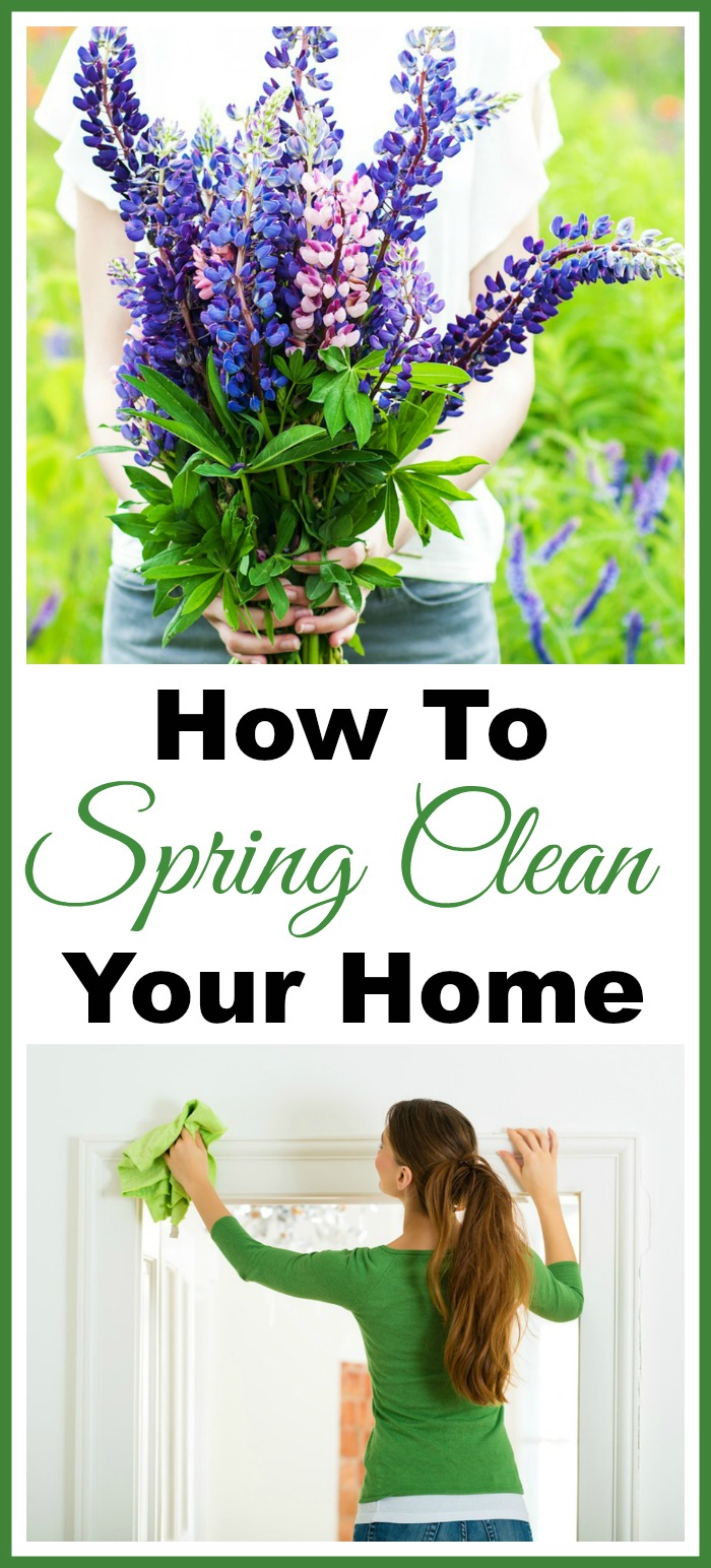 Spring Cleaning 101- This spring cleaning 101 guide includes spring cleaning tips and tricks to help make your spring cleaning go faster and easier. Plus, it includes free spring cleaning checklists and spring cleaning challenges to ensure you give your home a great deep clean! | deep clean your home, how to clean your home, bathroom cleaning, kitchen cleaning, #springCleaning #cleaning #cleaningTips #clean