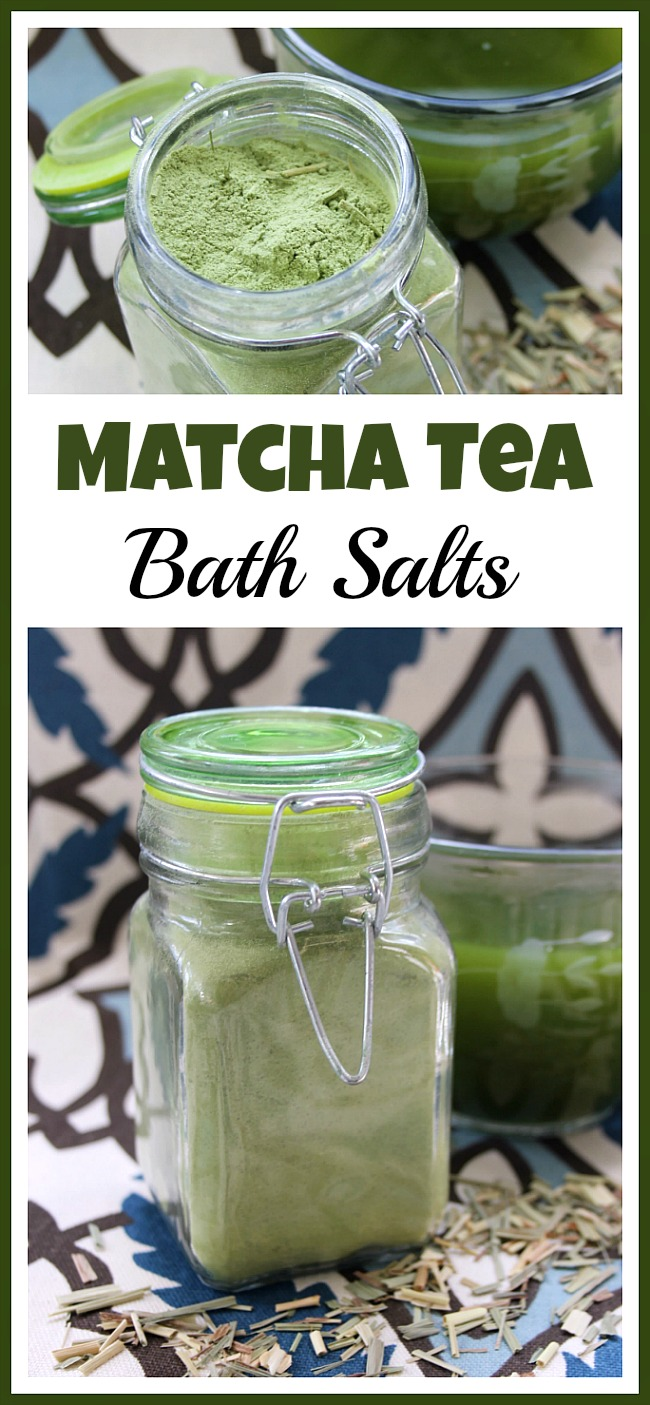 If you've been feeling stressed lately, then you need to soak in a relaxing bath! To make your bath more relaxing, make some homemade Matcha tea bath salts!