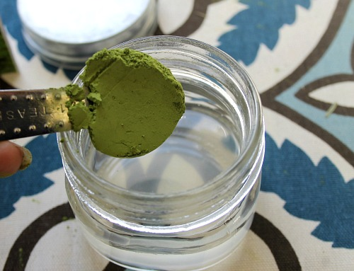 DIY Matcha tea face mask
