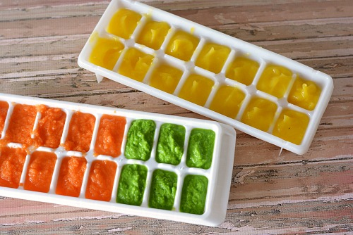 Save money by making your own baby food- ready to freeze
