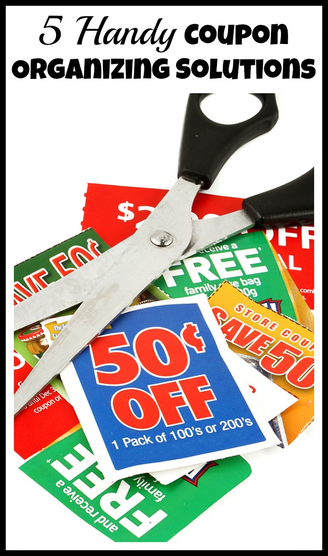 Are your coupons always mixed together? If you want your shopping trips to be as fast as possible, you should use one of these coupon organizing solutions!