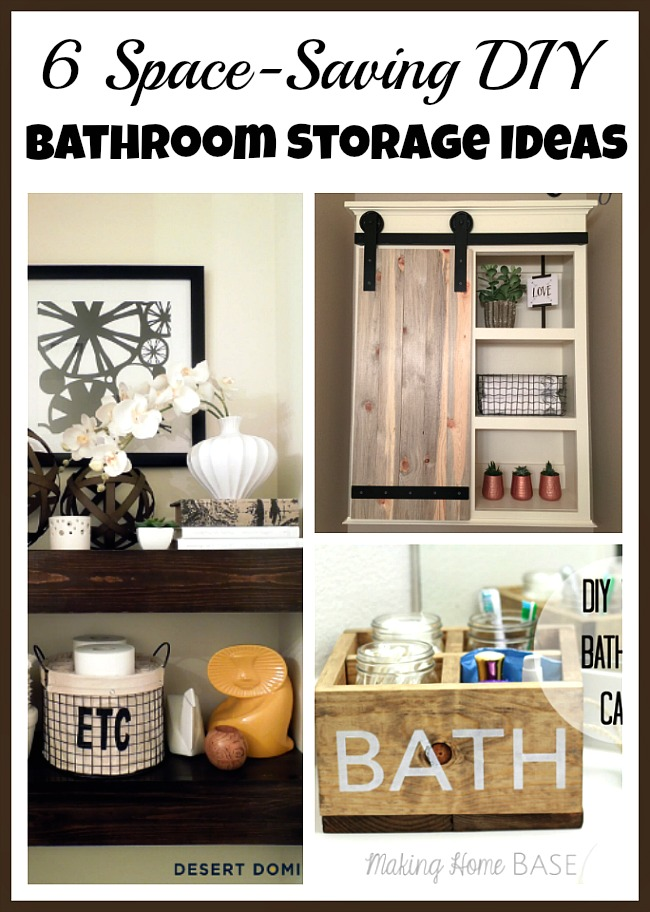If you have a small bathroom, you may have a hard time keeping it looking nice and organized. These space-saving DIY bathroom storage ideas can help!