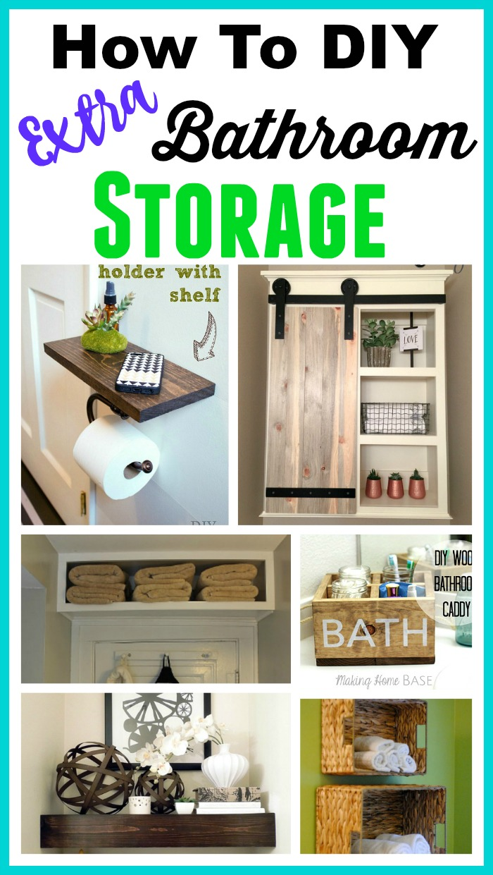 DIY Bathroom Storage Ideas - If you have a small bathroom, you may have a hard time keeping it looking nice and organized. These space-saving DIY bathroom storage ideas can help!