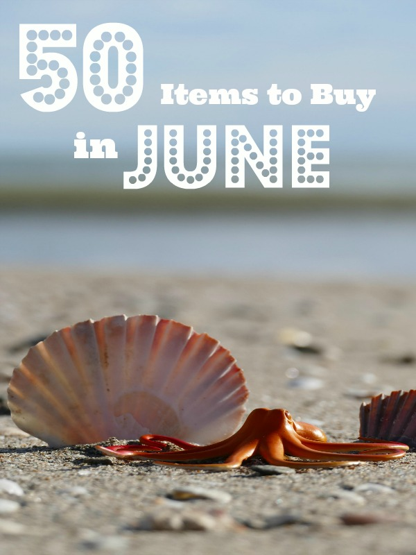 What To Buy In June For Less - June is the perfect time to find some of your favorite things at their rock bottom price. Here's a list of items that are on sale this month! | #saveMoney #moneySavingTips #frugalLiving #ACultivatedNest
